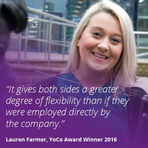 Lauren Farmer, our 2016 YoCo Awards winner, feels that Millennial contractors and the clients that take them can benefit from the working arrangement