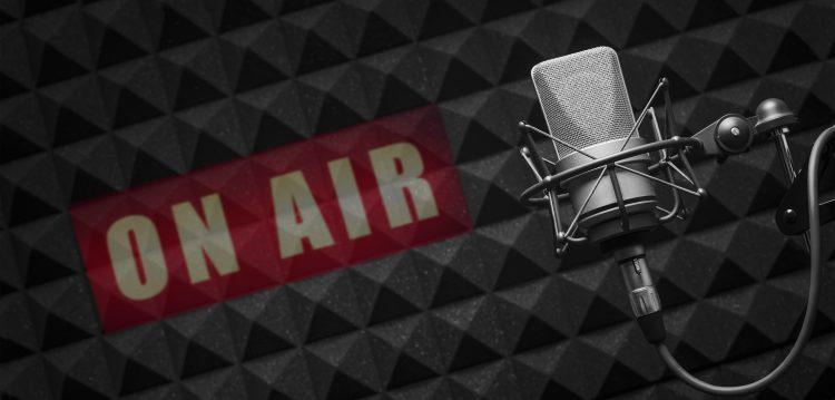 Radio microphone on air